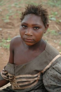 Orphaned girl in the Emkhuzweni area