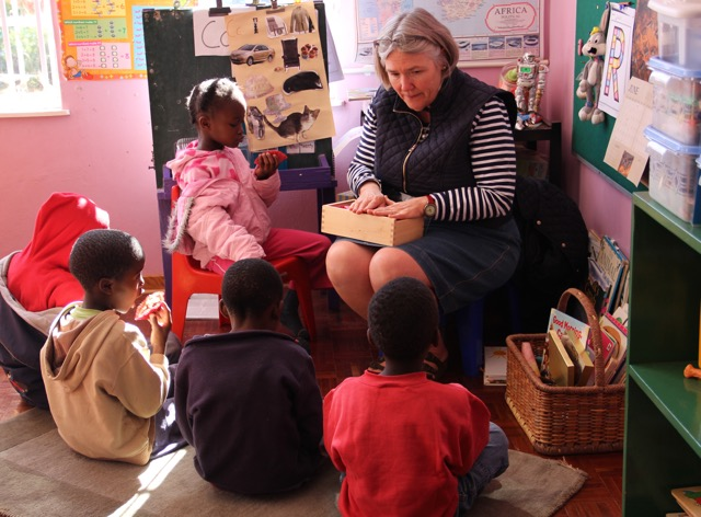 Barbara at preschool